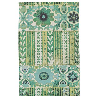 Elinore Hand Woven Emerald Indoor/Outdoor Area Rug Rug Size: Rectangle 56 x 86