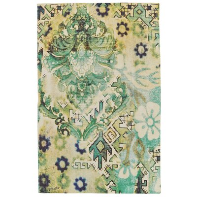 Arla Hand Woven Lime Indoor/Outdoor Area Rug Rug Size: 2 x 3