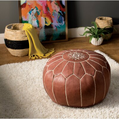 Carolos Pouf Upholstery: Brown