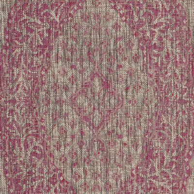 Myers Gray/Fuchsia Indoor/Outdoor Area Rug Rug Size: Square 67