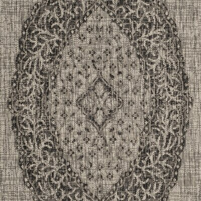 Myers Gray/Black Indoor/Outdoor Area Rug Rug Size: Rectangle 4 x 57