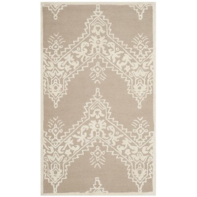Nioka Hand-Tufted Beige/Ivory Area Rug Rug Size: Rectangle 3 x 5