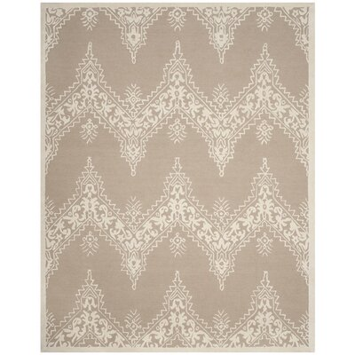 Anita Hand-Tufted Beige/Ivory Area Rug Rug Size: 8 x 10