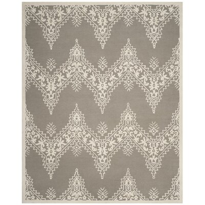 Anita Hand-Tufted Gray/Ivory Area Rug Rug Size: 8 x 10