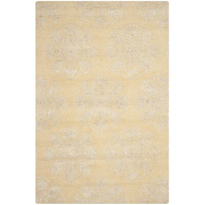 Rudra Beige/Silver Area Rug Rug Size: 6 x 9
