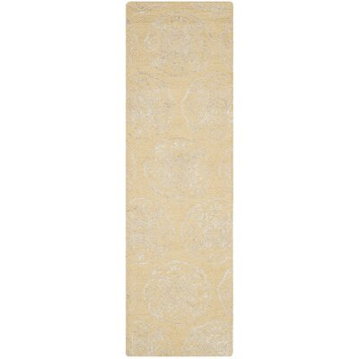 Rudra Beige/Silver Area Rug Rug Size: Runner 23 x 8