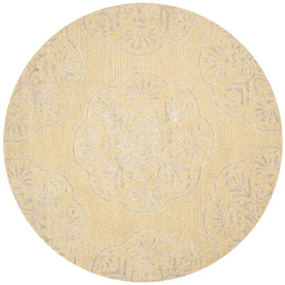 Rudra Beige/Silver Area Rug Rug Size: Rectangle 6 x 9