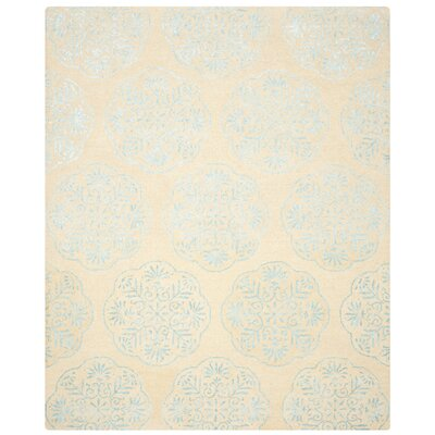 Rudra Beige/Turquoise Area Rug Rug Size: Rectangle 4 x 6