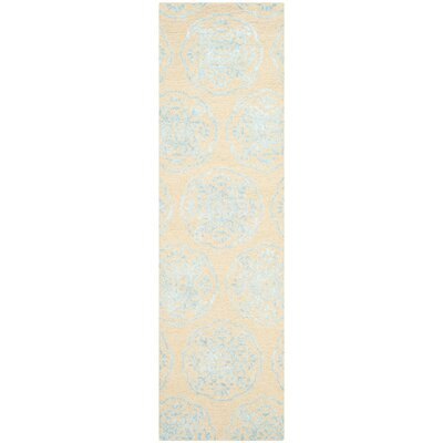 Rudra Beige/Turquoise Area Rug Rug Size: Runner 23 x 8
