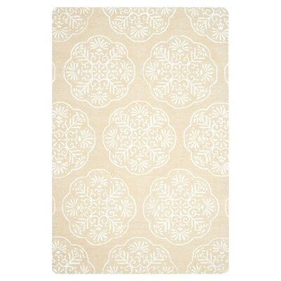 Rudra Beige/White Area Rug Rug Size: Rectangle 3 x 5