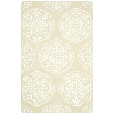 Rudra Beige/White Area Rug Rug Size: Rectangle 5 x 8