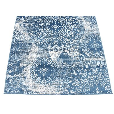 Brandt Blue Indoor Area Rug Rug Size: Rectangle 4 x 6