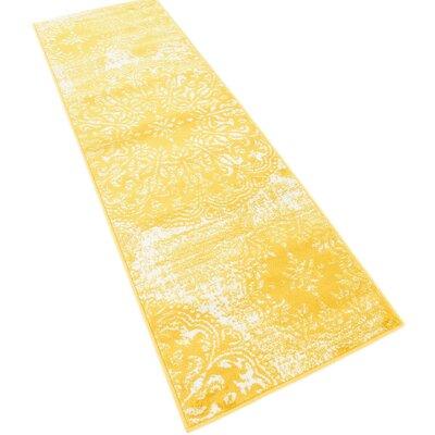 Brandt Yellow Area Rug Rug Size: Runner 2 x 67