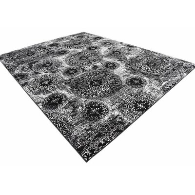 Brandt Black Indoor Area Rug Rug Size: 9 x 12