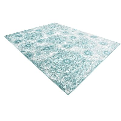 Brandt Turquoise Area Rug Rug Size: Rectangle 12 x 9