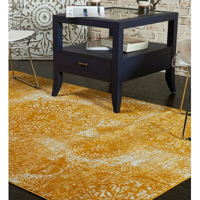Ford Yellow Indoor Area Rug