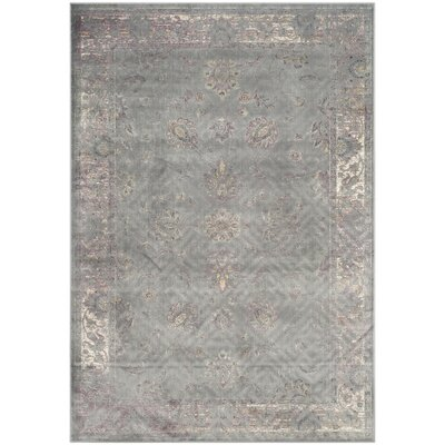 Makenna Grey/Multi Area Rug Rug Size: Rectangle 5'3