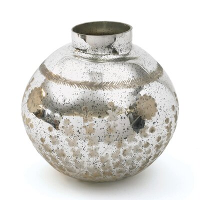 Antiqued silver Mercury Etched Humpty Ball