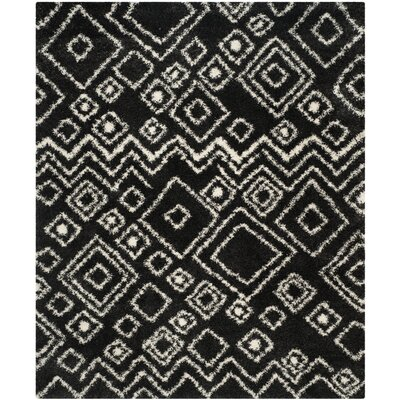Messiah Charcoal/Ivory Area Rug Rug Size: 8 x 10