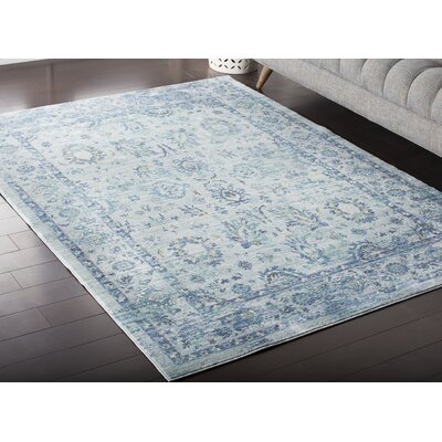 Fields Green / Blue Area Rug Rug Size: 2 x 3