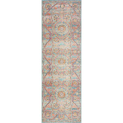 Ashburn Blue Area Rug Rug Size: Runner 27 x 8