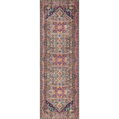 Blackwell Multi-Colored Area Rug Rug Size: Runner 27 x 8