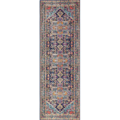 Blackwell Dark Blue Area Rug Rug Size: Runner 27 x 8