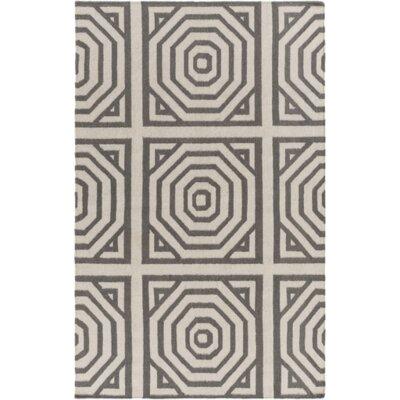 Francis Tufted Cotton Gray/Ivory Area Rug Rug Size: Rectangle 5 x 76