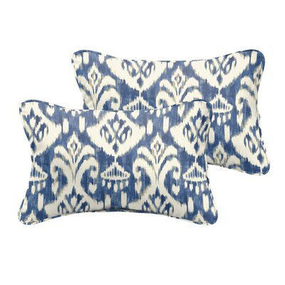 Tegan Indoor/Outdoor Piped Lumbar Pillow