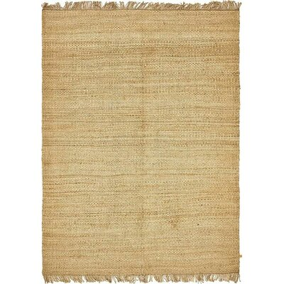 Davin Hand-Woven Natural Area Rug Rug Size: 9 x 12