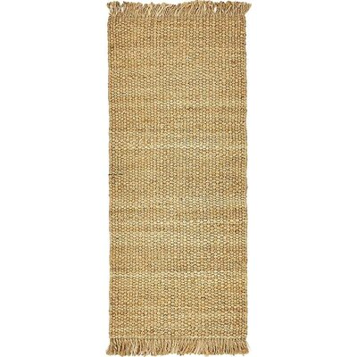 Irasburg Hand-Woven Natural Area Rug Rug Size: Rectangle 8 x 10