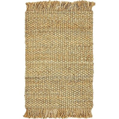 Davin Hand-Woven Natural Area Rug Rug Size: 2 x 3