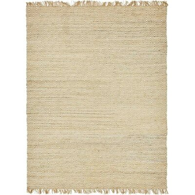 Deziree Hand-Braided Natural Area Rug Rug Size: 9 x 12