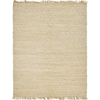 Teagan Hand-Braided Natural Area Rug Rug Size: 8 x 10