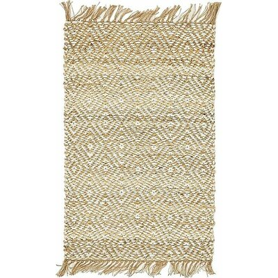 Teagan Hand-Braided Natural Area Rug Rug Size: 2 x 3