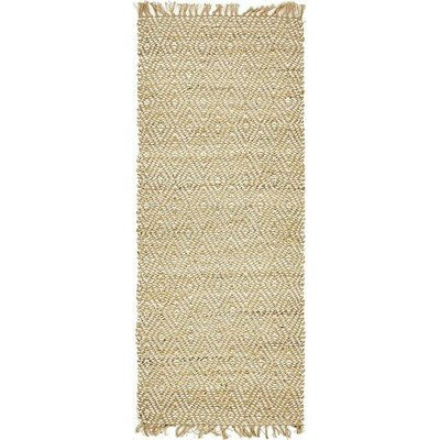 Teagan Hand-Braided Natural Area Rug Rug Size: Runner 2 6 x 6