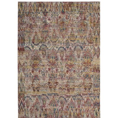 Ellis Light Gray/Rose Area Rug Rug Size: 4 x 6