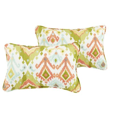 Fealty Ikat Indoor/Outdoor Lumbar Pillow