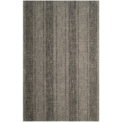 Amedee Gray/Black Indoor/Outdoor Area Rug Rug Size: 53 x 77