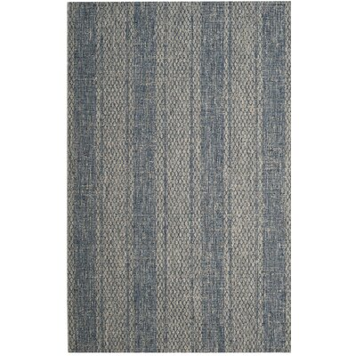 Myers Gray/Blue Indoor/Outdoor Area Rug Rug Size: 53 x 77
