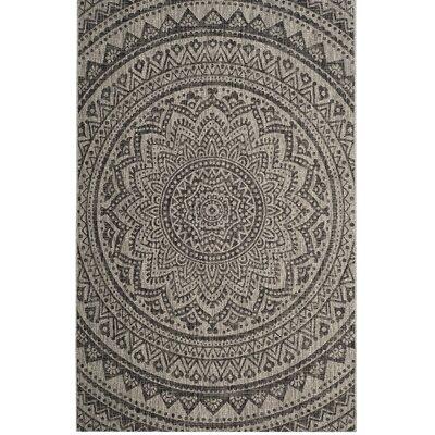 Amedee Gray/Black Indoor/Outdoor Area Rug Rug Size: 2' x 3'7