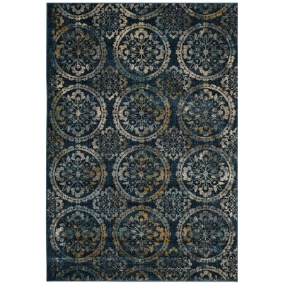 Florentin Navy/Cream Area Rug Rug Size: Square 67
