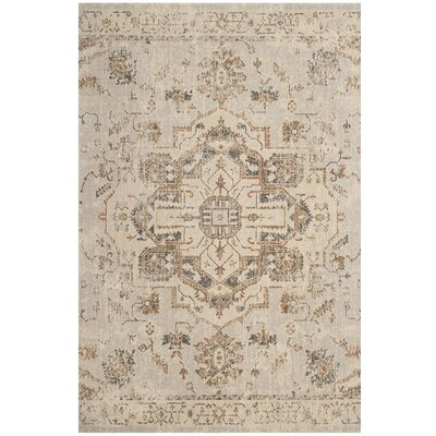 Manya Light Blue/Beige Area Rug Rug Size: Rectangle 6'7