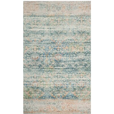 Amanda Blue Area Rug Rug Size: Rectangle 5 x 7