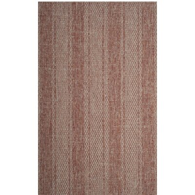 Amedee Light Beige/Terracotta Indoor/Outdoor Area Rug Rug Size: 53 x 77