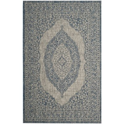 Myers Gray/Blue Area Rug Rug Size: Rectangle 4 x 57