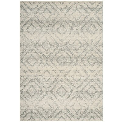 Buckleton Ivory/Gray Area Rug Rug Size: Rectangle 4 x 6
