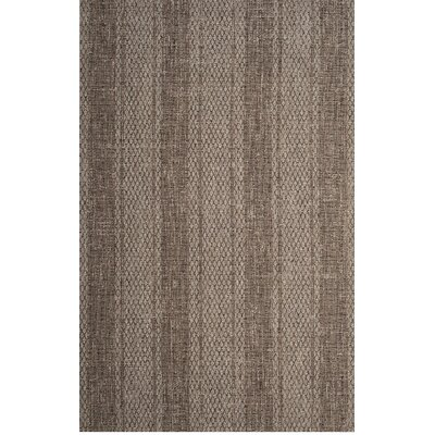 Myers Beige/Light Indoor/Outdoor Brown Area Rug Rug Size: 53 x 77