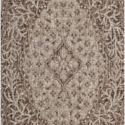 Myers Light Beige/Brown Indoor/Outdoor Area Rug Rug Size: Rectangle 4 x 57