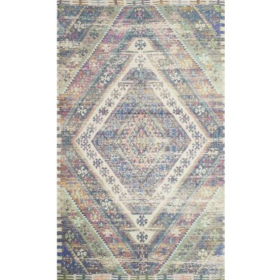Myers Hand-Loomed Royal Blue/Fuchsia Area Rug Rug Size: 4 x 6